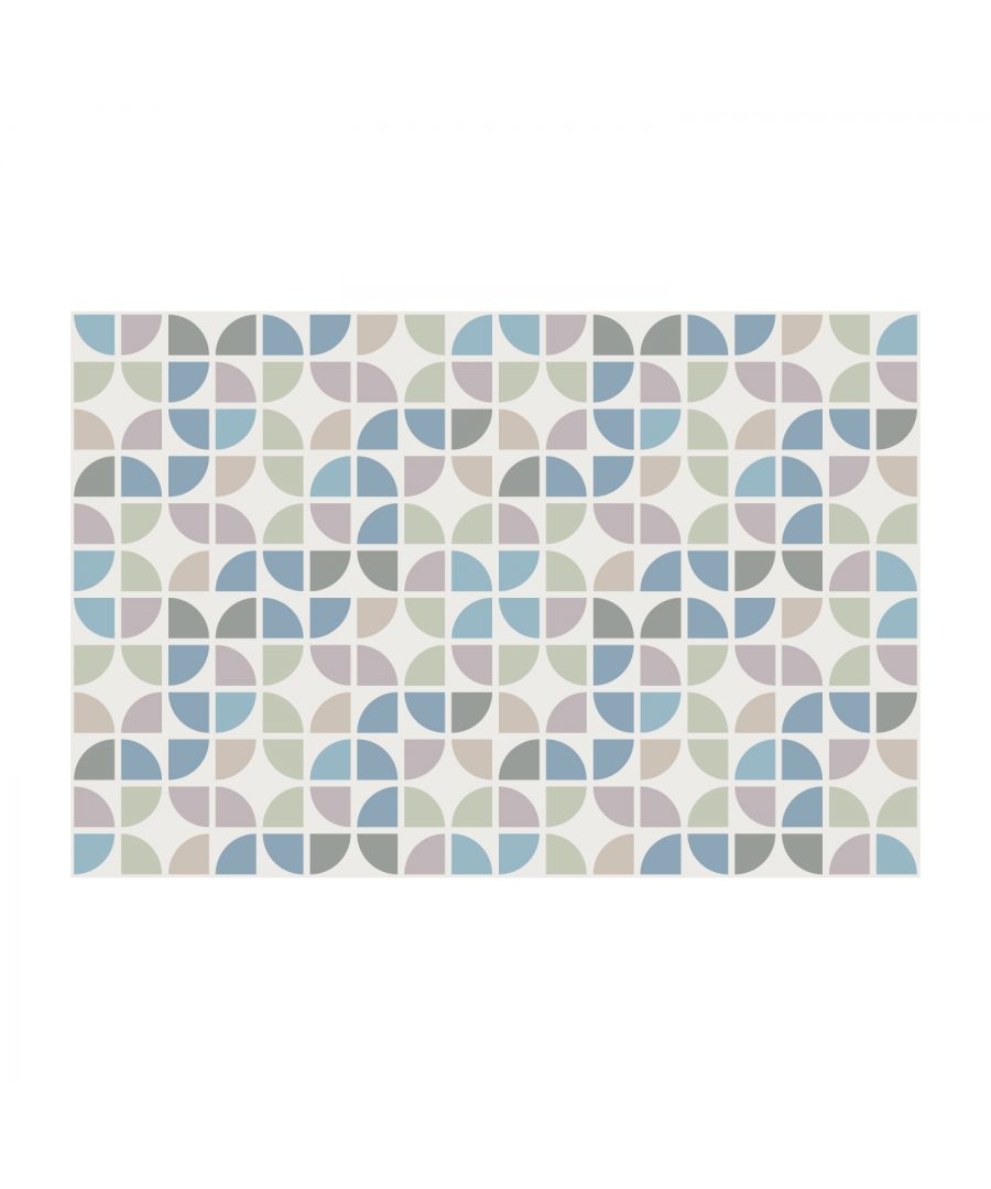 Image for Odyssey Light Pink and Blue Modern Azulejo Wall Tile Sticker Set - 15 x 15 cm (6 x 6 in) - 24 pcs, DIY Art, Home Decorations, Decals, Kitchen Decor, Bathroom Ideas