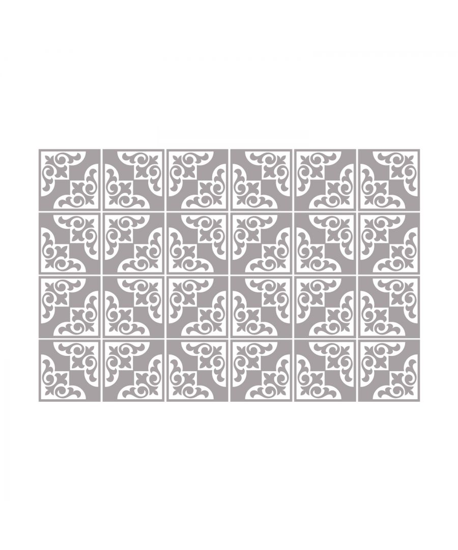 Image for Audley Monocromatic Dark Grey Victorian Wall Tile Sticker Set - 15 x 15 cm (6 x 6 in) - 24 pcs, DIY Art, Home Decorations, Decals, Kitchen Decor, Bathroom Ideas