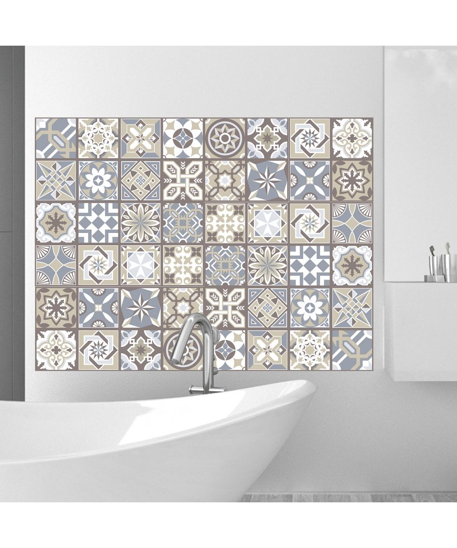 Image for WT2002 - Limestone Tiles Wall Stickers - 20 cm x 20 cm - 12 pcs.