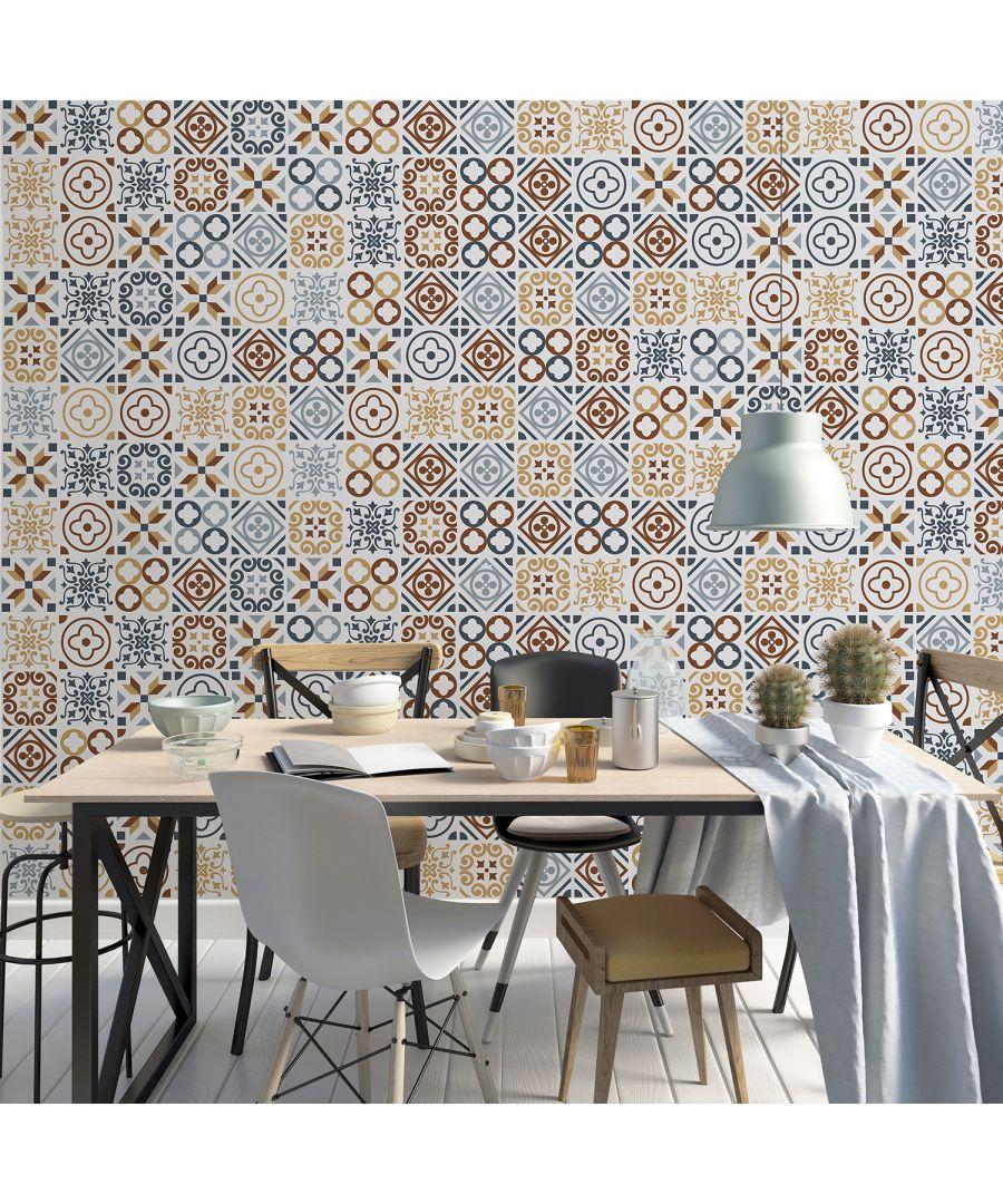 Image for WT2004 - Azulejo Tiles Wall Stickers - 20 cm x 20 cm - 12 pcs.