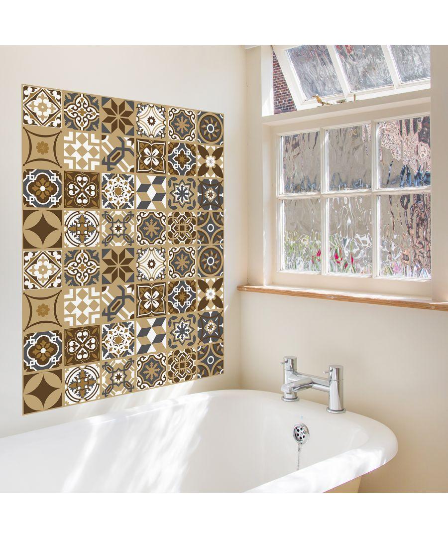 Image for WT2006 - Dark Bronze Tiles Wall Stickers - 20 cm x 20 cm - 12 pcs.
