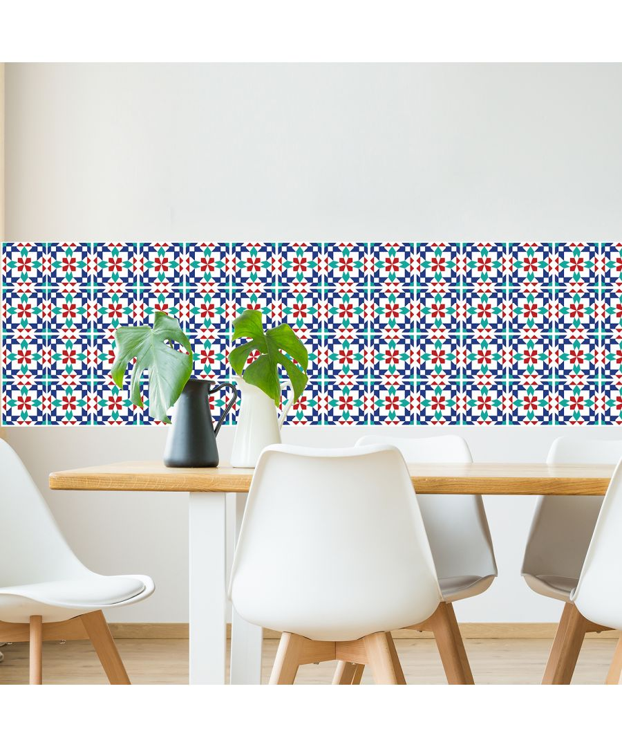 Image for WT2008 - Marrakech Tiles Wall Stickers - 20 cm x 20 cm - 12pcs.