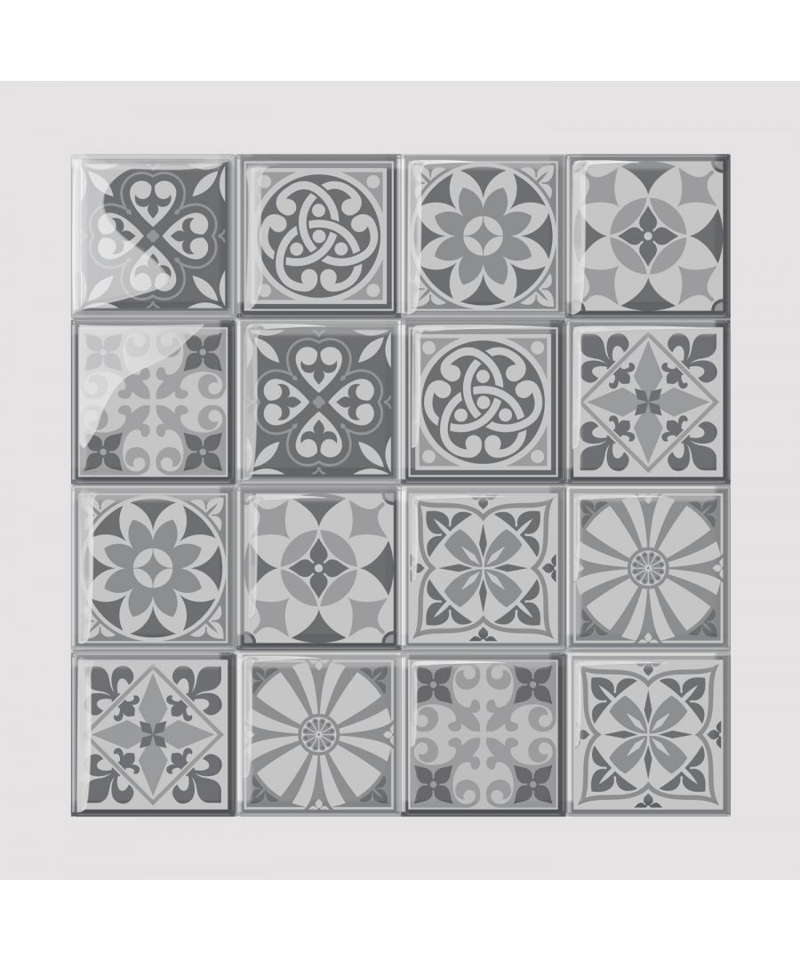Image for WT3D3012 - Purbeck Stone Glossy 3D Sticker Tile 15.4 cm (6 in) - 16pcs in a pack