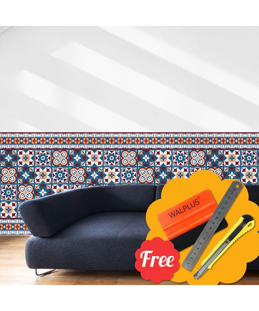 Image for Walplus Turkish Green Mosaic Wall Tile Stickers Wallpaper 24pcs x 20cm x 20cm