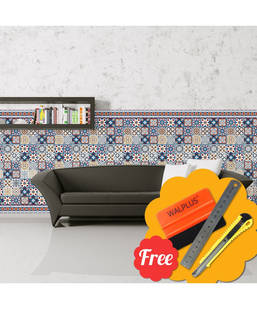 Image for Walplus  Azulejo Skirting Wall Tile Stickers 24pcs x 20cm x 20cm