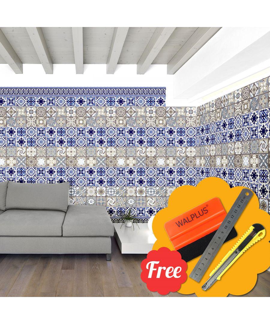 Image for Walplus Grand Tiles Sticker Wallpaper Mix 24pcs x 20cm x 20cm