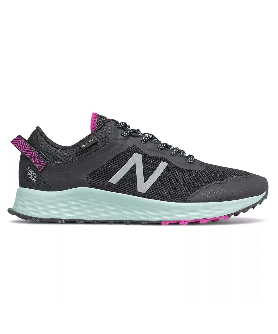 Image for New Balance Fresh Foam Arishi Gore-Tex Womens Trail Running Shoe Black/Pink/Blue - UK 5