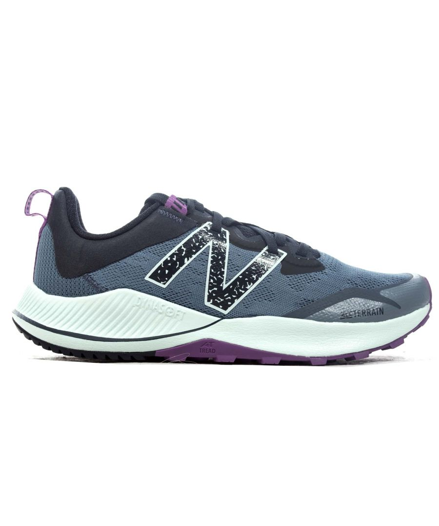 Image for New Balance Nitrel v4 Womens Trail Running Shoe Grey/Purple - UK 5