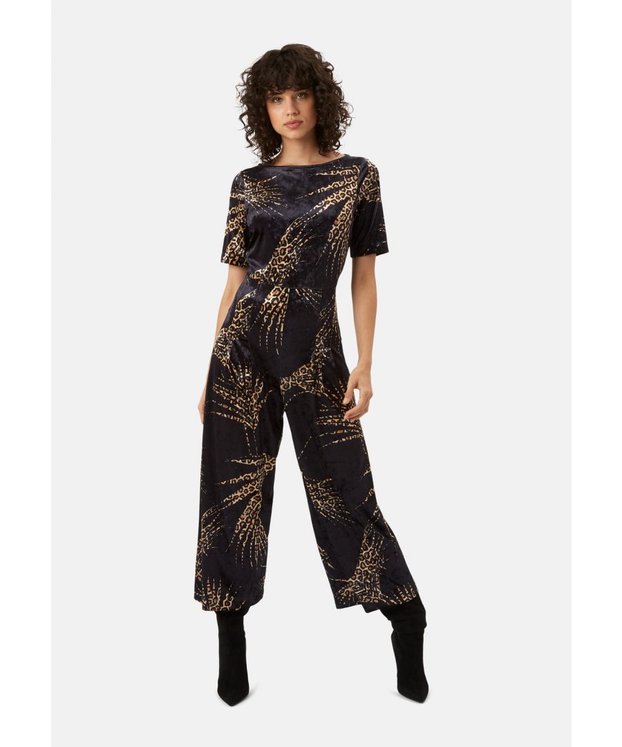 Image for Bianca Velvet Jumpsuit in Black