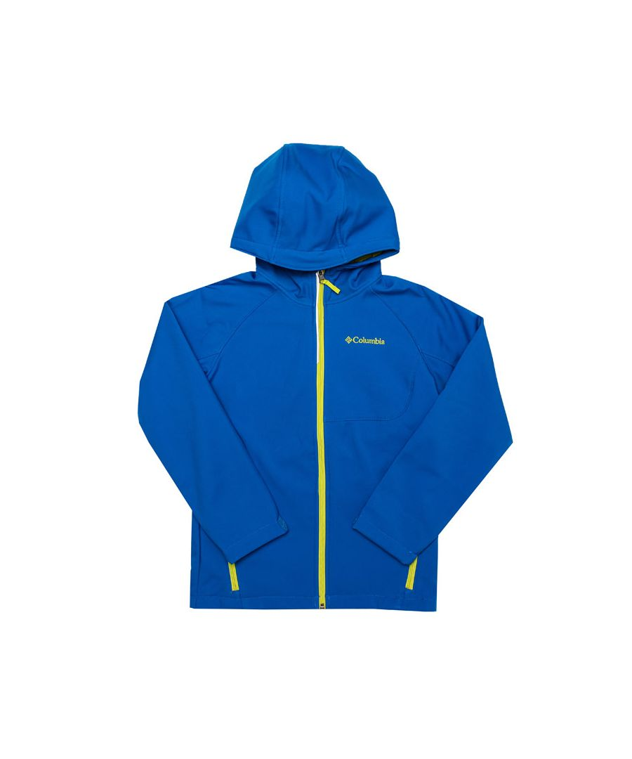 Image for Boy's Columbia Junior Cascade Ridge Softshell Jacket in Blue