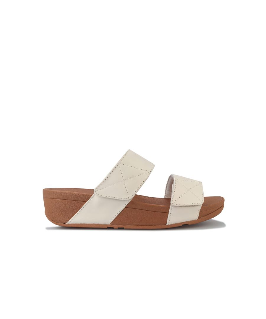 Image for Women's Fit Flop Mina Leather Slide Sandals in Stone