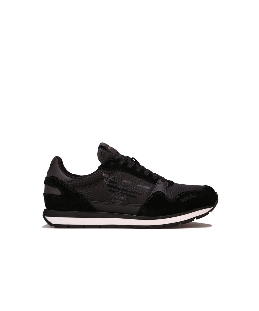 Image for Men's Armani Side Logo Trainers in Black
