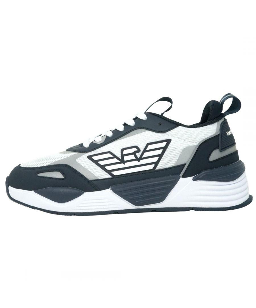 Image for Emporio Armani Eagle Logo Mesh Navy Sneakers