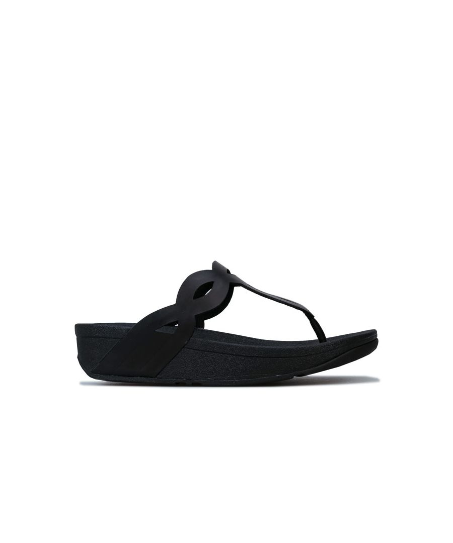 Image for Women's Fit Flop Eva Interlace Toe Thong Sandals in Black