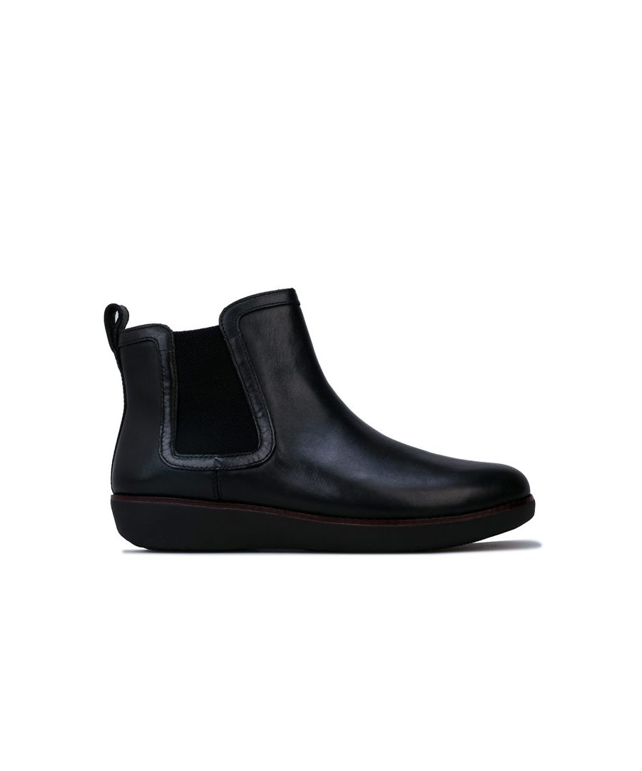 Image for Women's Fit Flop Chai Leather Chelsea Boots in Black