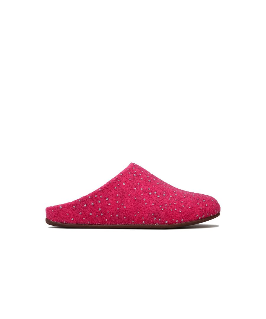 Image for Women's Fit Flop Chrissie Dotty Glitz Slippers in Pink
