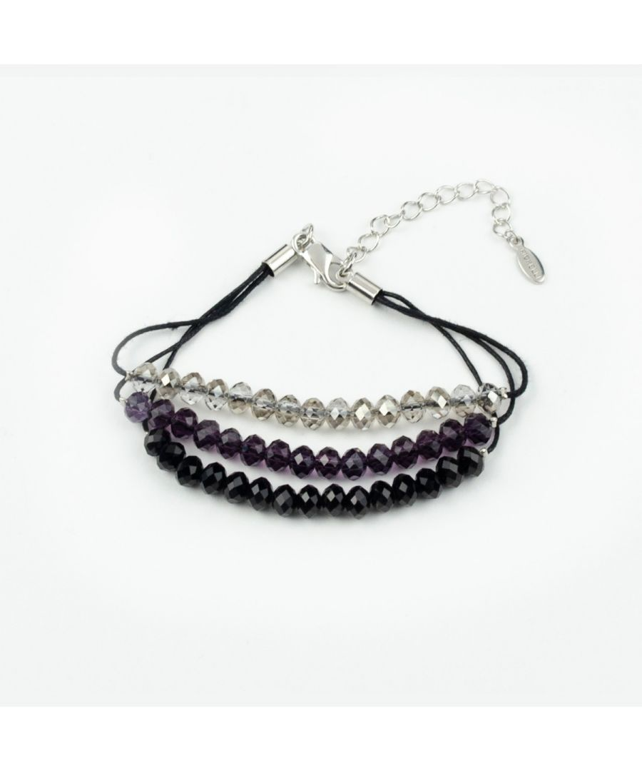 Image for Fiorelli Fashion Three Tone Beaded Cord Bracelet 18cm + 5cm