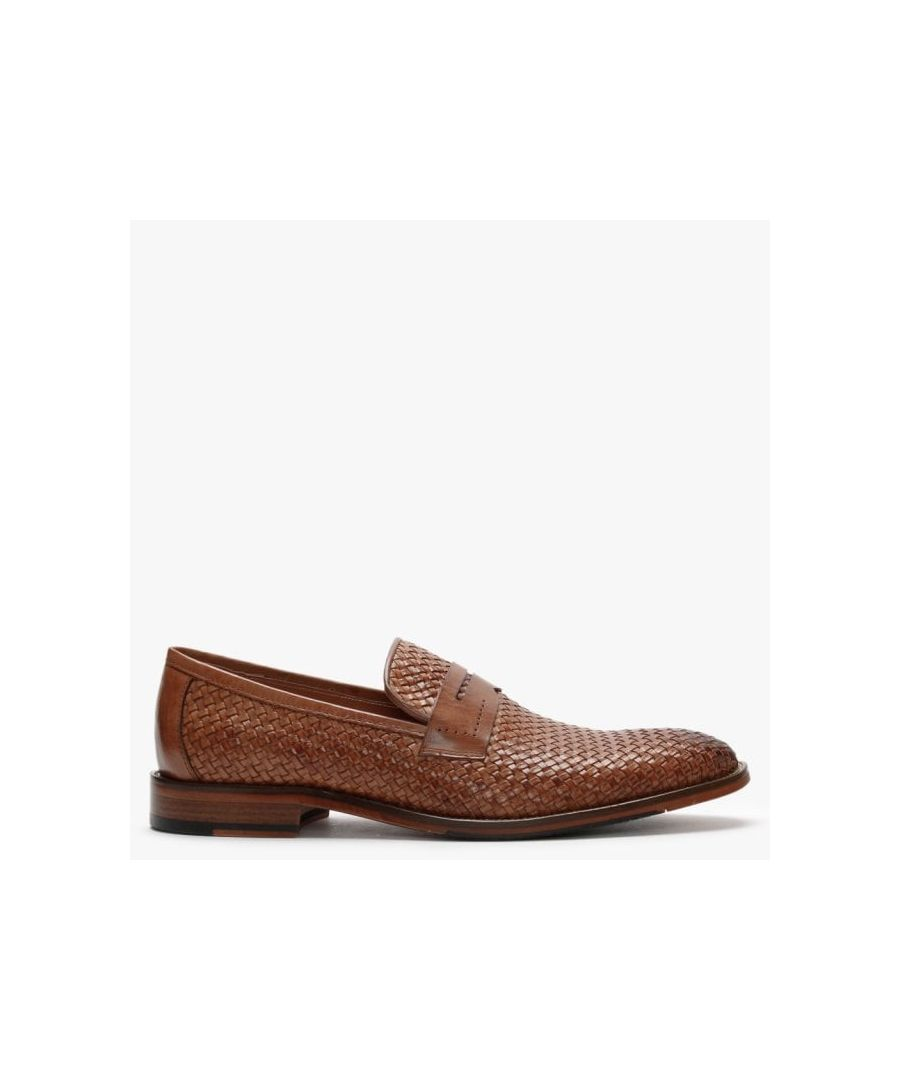 Image for Daniel Xingbang Leather Woven Loafers