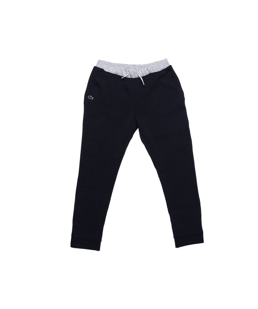 Image for Boy's Lacoste Junior Colourblock Jog Pant in Navy