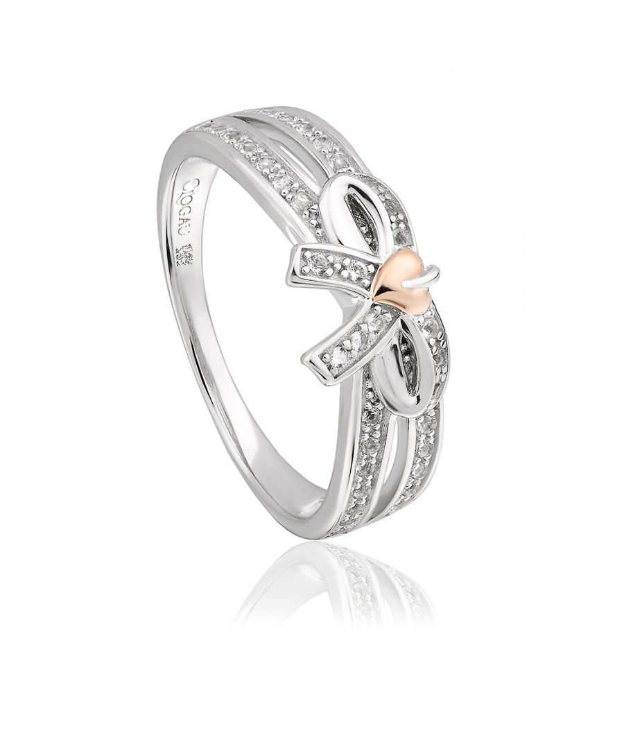 Image for Tree of Life Bow White Topaz Ring