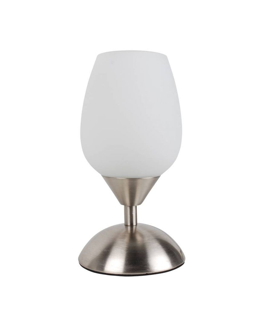 Image for Jordan 20cm Touch Table Lamp Satin Chrome