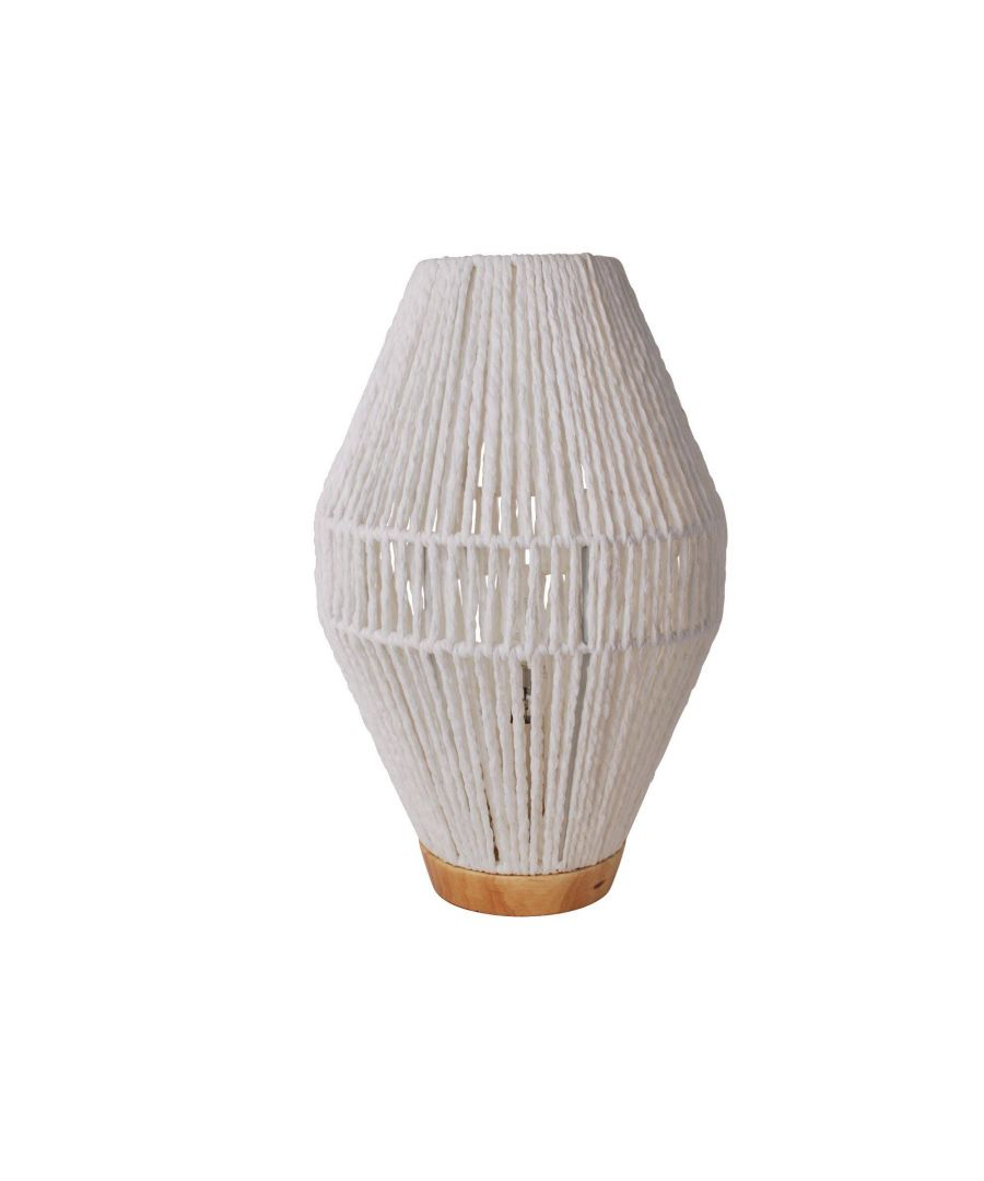 Image for Grumio White 35.5cm Table Lamp