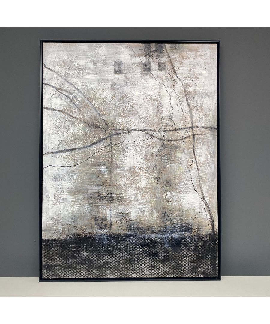 Image for Abstract Painted Canvas with Black Frame 90x120