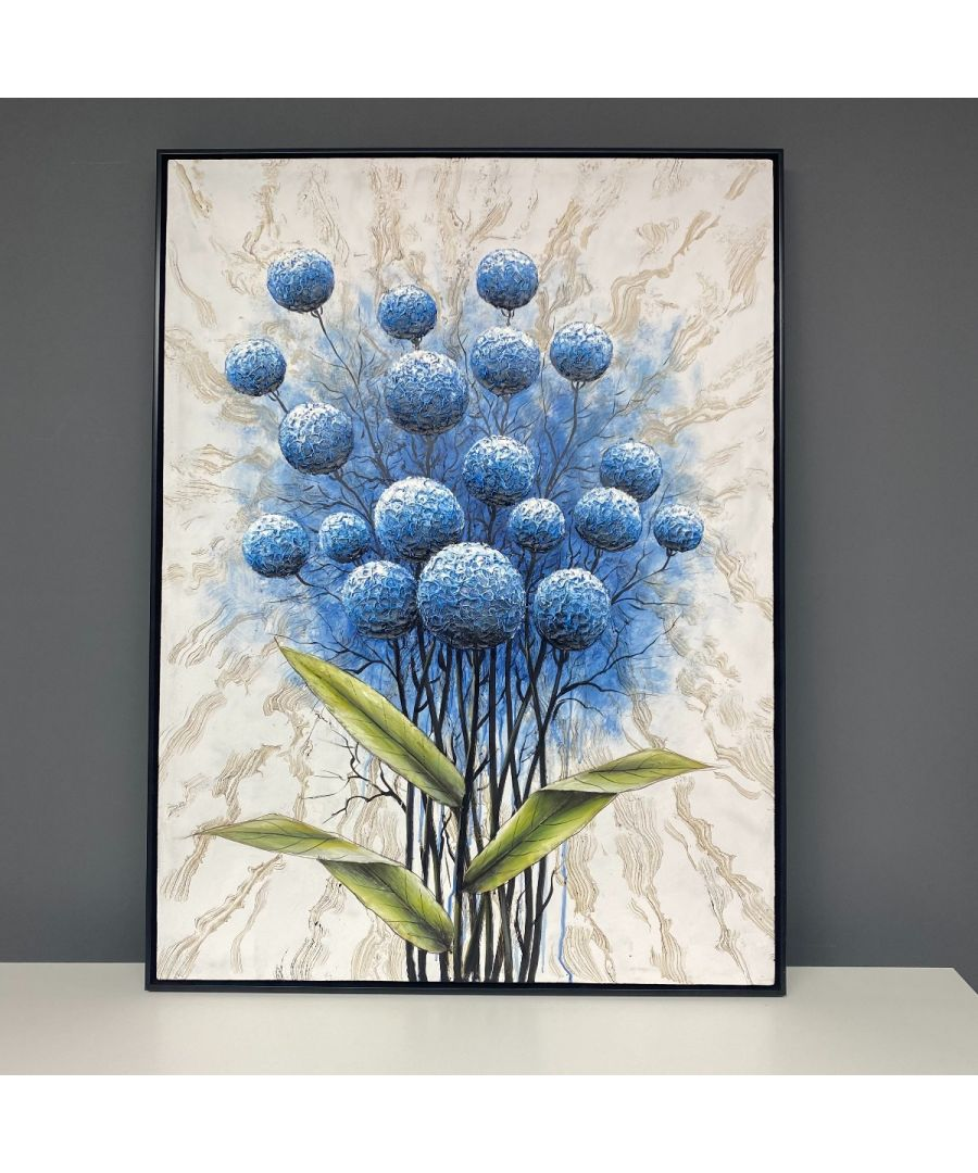 Image for Bluebloom Painted Canvas with Black Frame 90x120