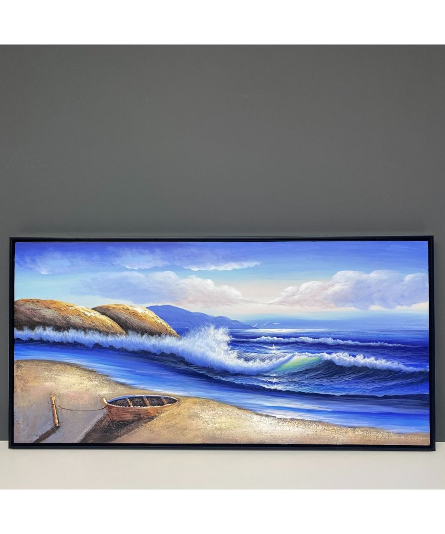 Image for Ripcurl Wave Painted Canvas with Black Frame 120x60