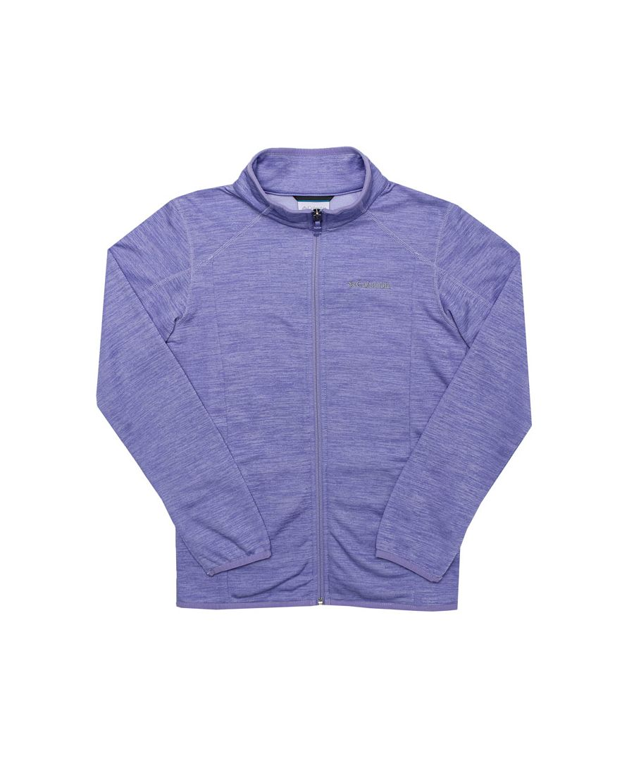 Image for Girl's Columbia Junior Wilderness Way Fleece Jacket in Purple