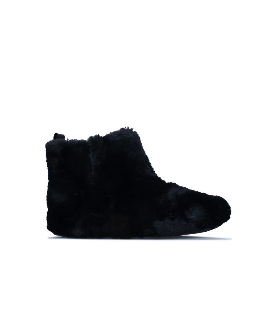 Image for Women's Fit Flop Furry Bootie Slippers in Black