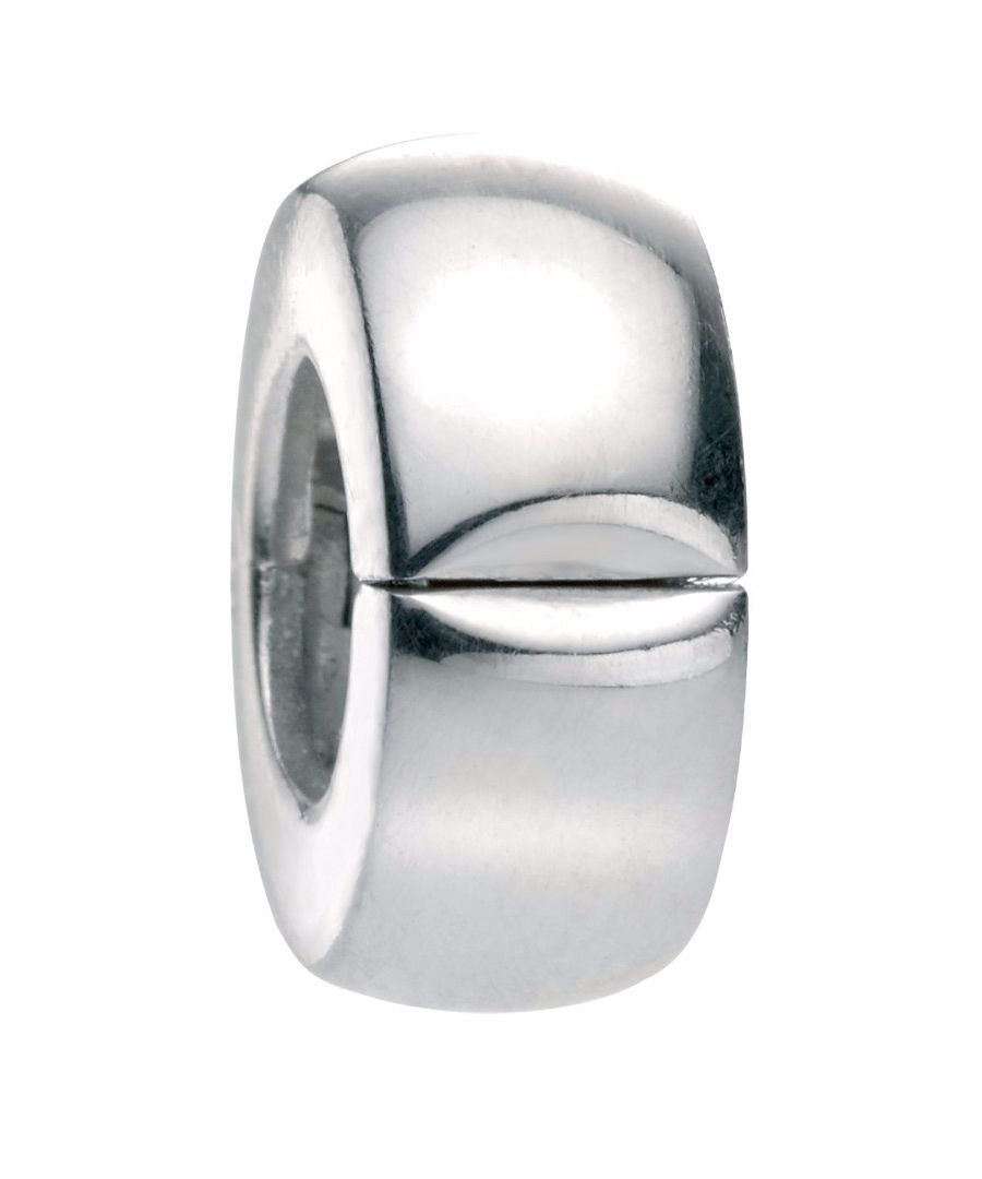 Image for Elements Silver 925 Sterling Silver Plain Silver Bead Clip Charm