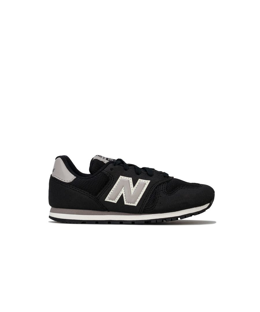 Image for Boy's New Balance Children 373 Trainers in Black