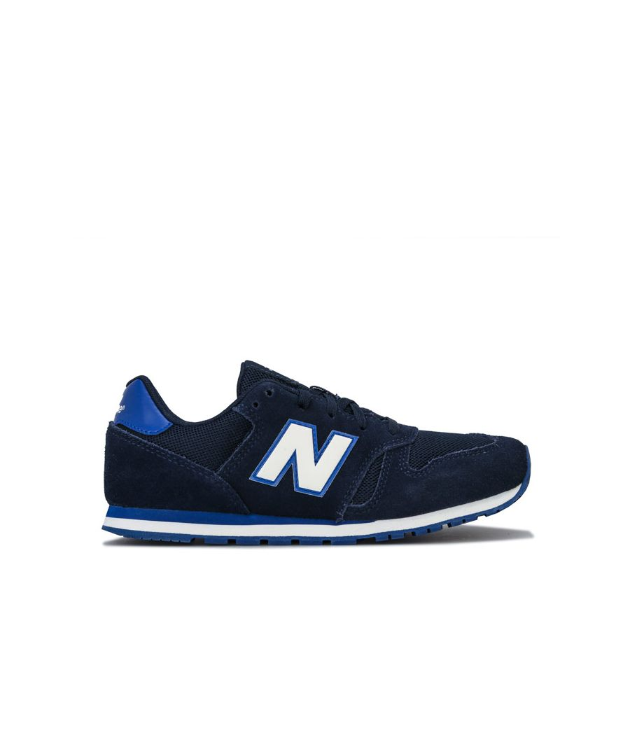 Image for Boy's New Balance Junior 373 Trainers in Navy