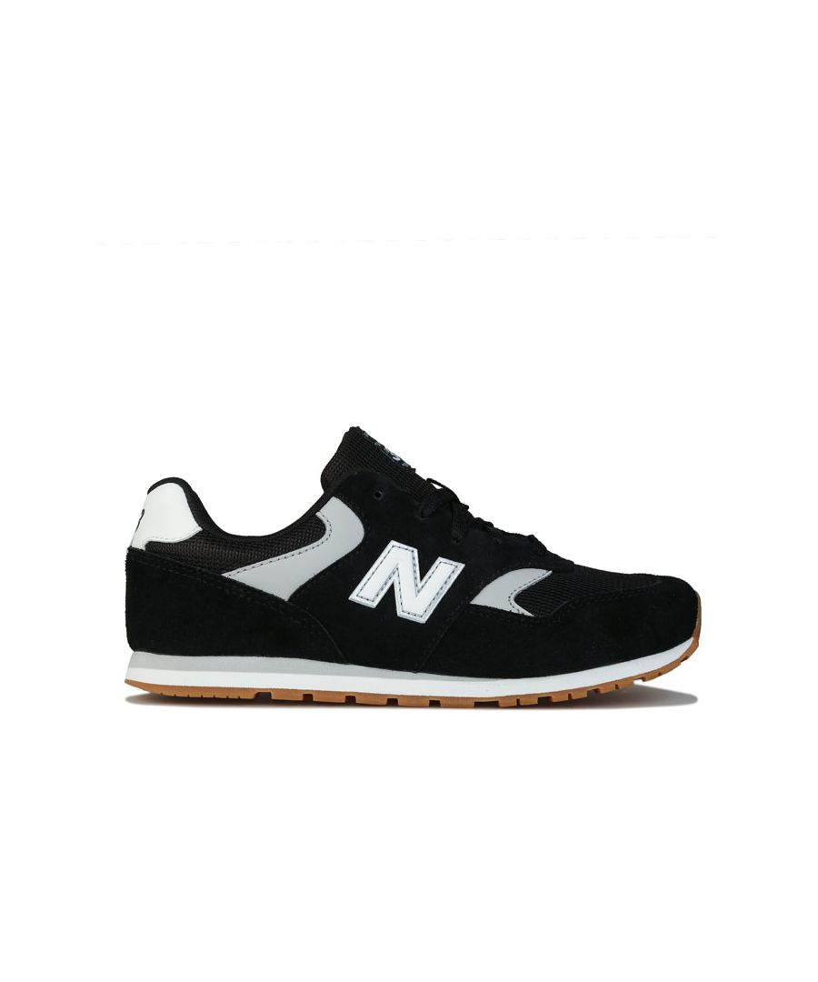 Image for Boy's New Balance Junior 393 Trainers in Black