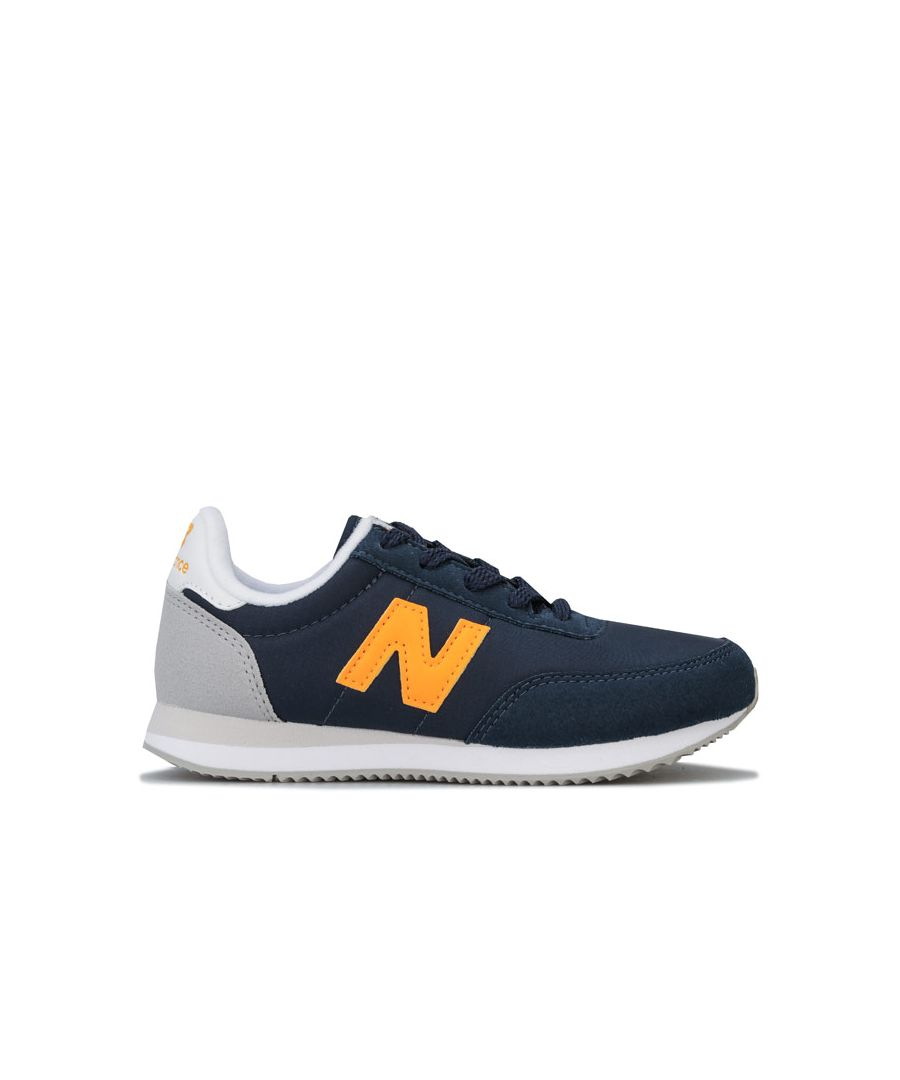 Image for Boy's New Balance Children 720 Trainers in Navy Yellow