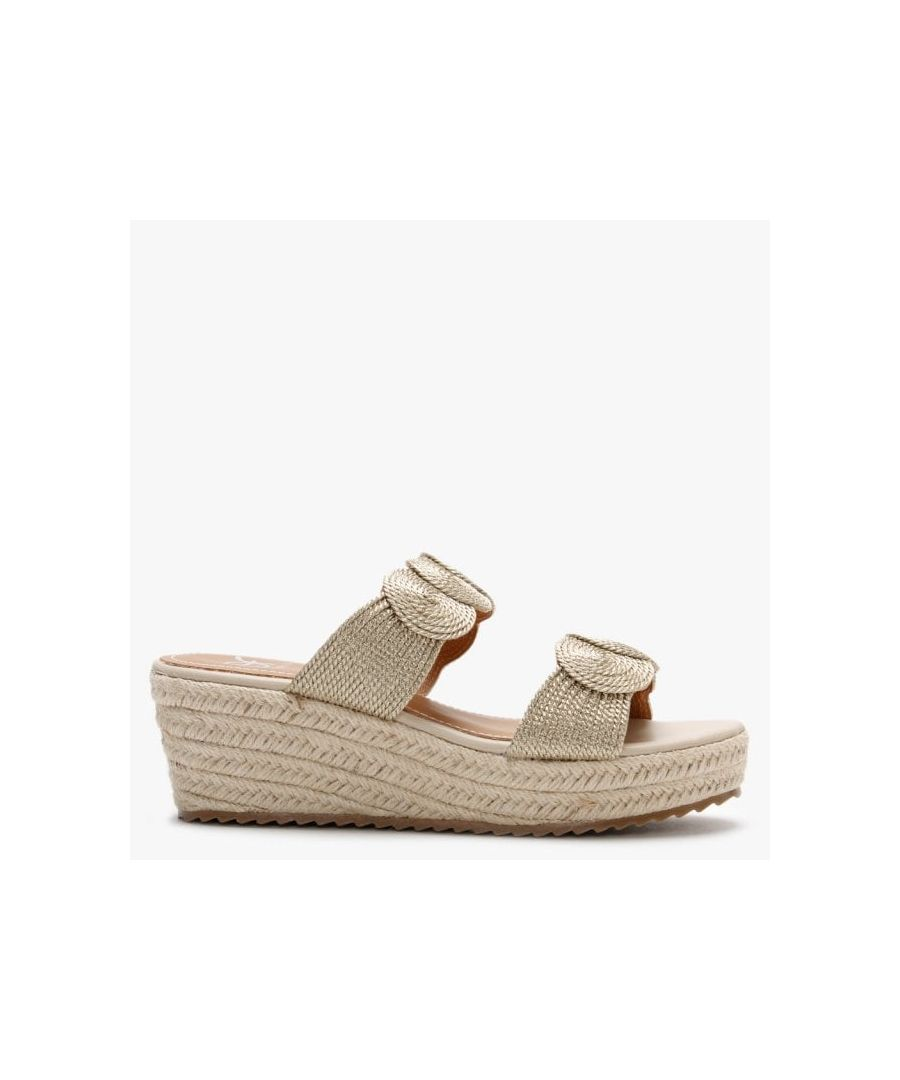 Image for DF By Daniel Yvette Rope Espadrille Wedge Sandals
