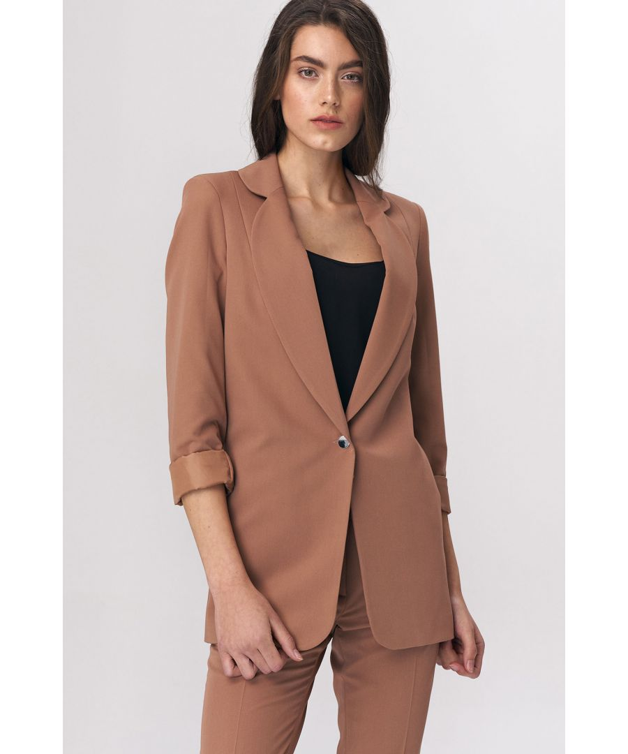 Image for Oversize jacket - caramel