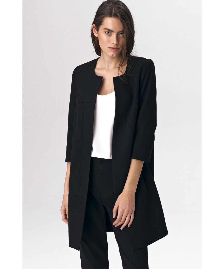 Image for Black long jacket for woman
