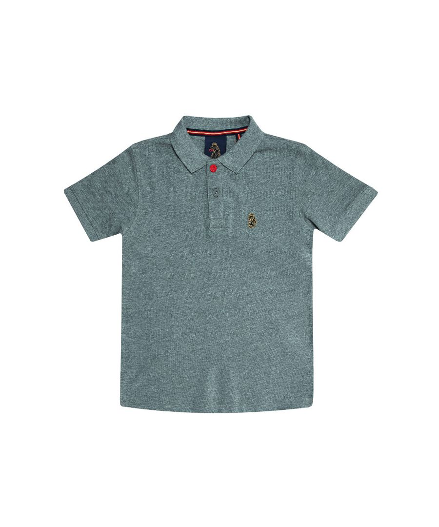 Image for Boy's Luke 1977 Junior Williams Polo Shirt in Grey Marl