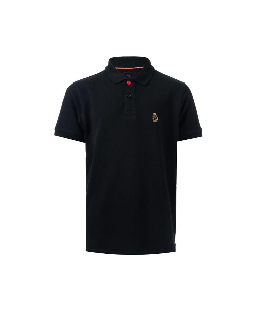 Image for Boy's Luke 1977 Junior Wiliams Polo Shirt in Black