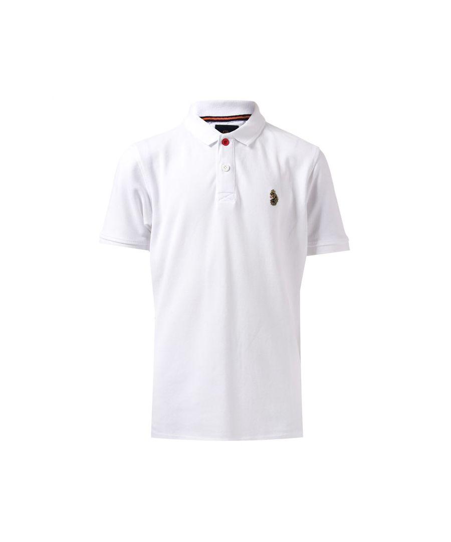 Image for Boys' Luke 1977 Junior Wiliams Polo Shirt in White