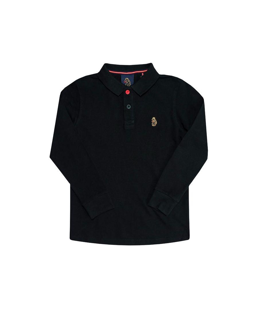 Image for Boy's Luke 1977 Infant Williams Long Sleeve Polo Shirt in Black