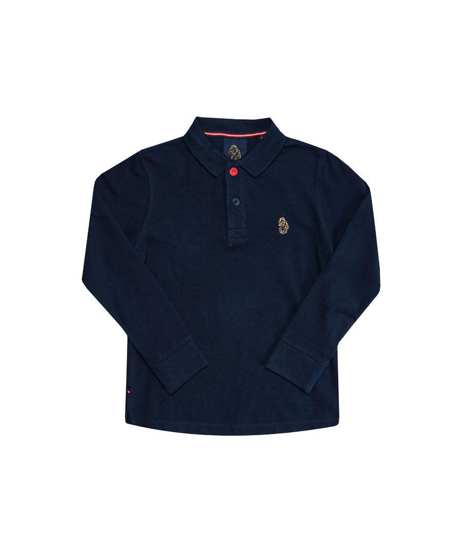 Image for Boy's Luke 1977 Junior Williams Long Sleeve Polo Shirt in Navy