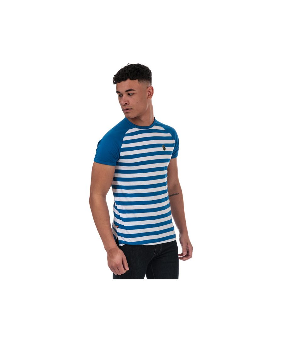 Image for Men's Luke 1977 Raglan Stripe T-Shirt in Navy-White