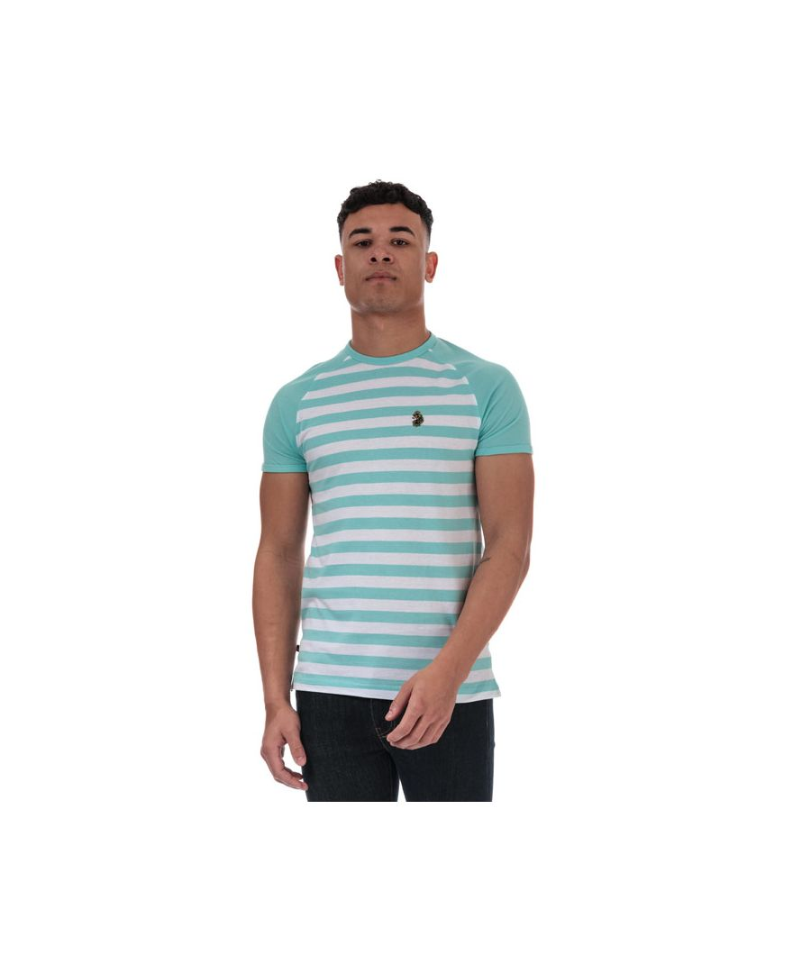 Image for Men's Luke 1977 Raglan Stripe T-Shirt in sky white