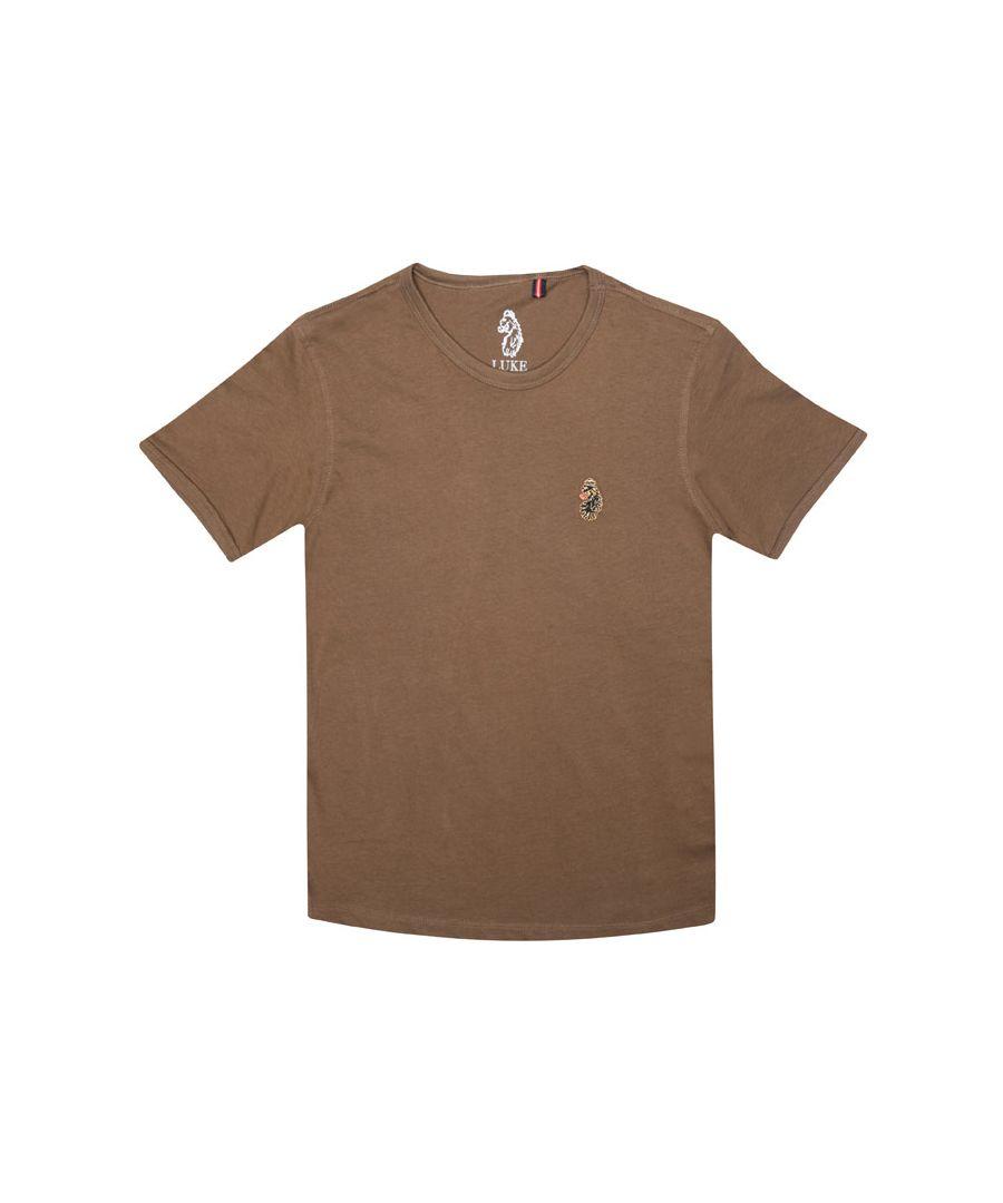 Image for Boy's Luke 1977 Junior Trouser Snake Crew T-Shirt in Khaki