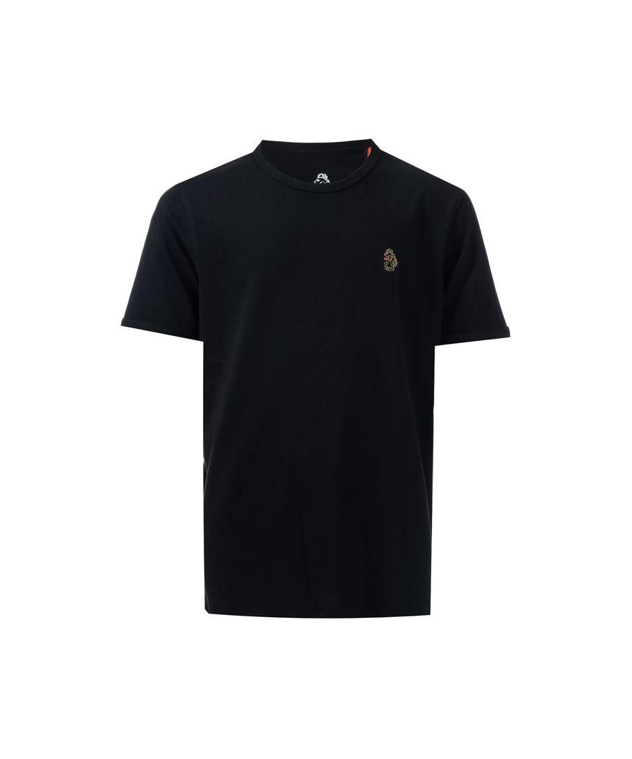 Image for Boys' Luke 1977 Junior Trouser Snake Crew T-Shirt in Black