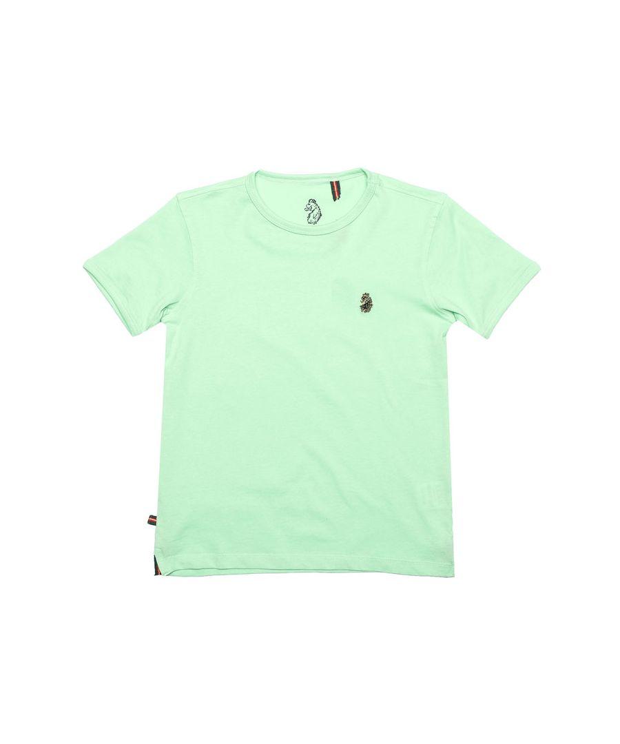 Image for Boy's Luke 1977 Junior Trouser Snake Crew T-Shirt in Mint