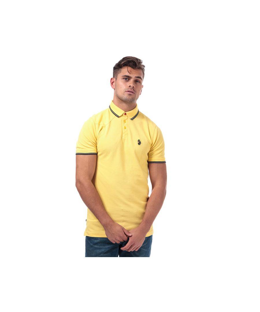 Image for Men's Luke 1977 Tip Off Polo Shirt in Yellow navy